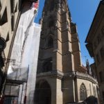 Echafaudage ville Fribourg Cathedrale